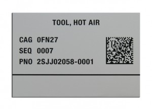 Metal Photo 2D Barcode nameplate