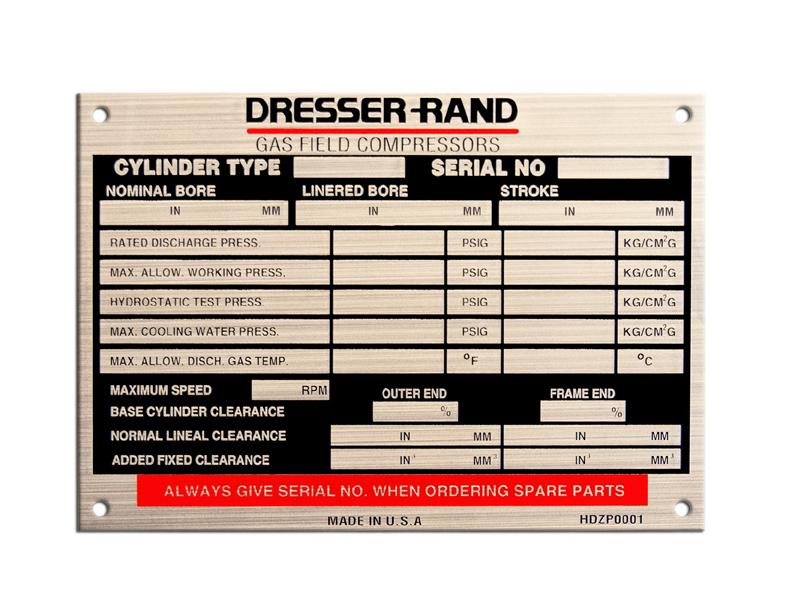 Custom Stainless Steel Nameplates   Nameplates, Labels, Overlays ...