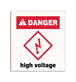 vinyl danger sign