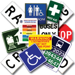 handicap, emergency and transportation labels