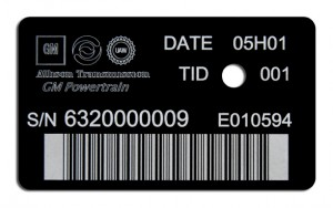 etched barcode nameplate